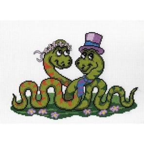 Змеи. Первое свидание Набор для вышивания МП Студия