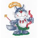 Кот - индеец Набор для вышивания МП Студия