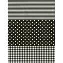 Полоска/ Горох/ Клетка черная Бумага для декопатча Decopatch