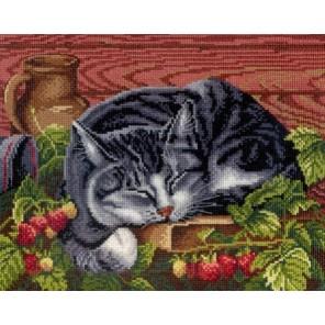Спящий кот Набор для вышивания МП Студия