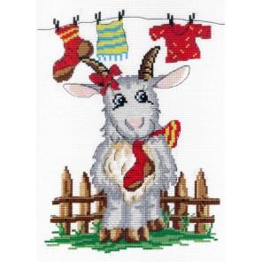 Коза с носком Набор для вышивания МП Студия