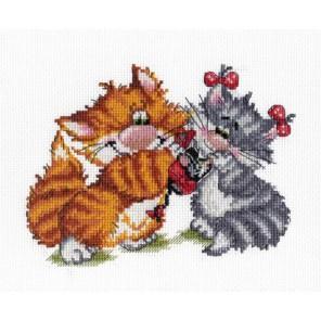 Рыжий кот. Подарок Набор для вышивания МП Студия