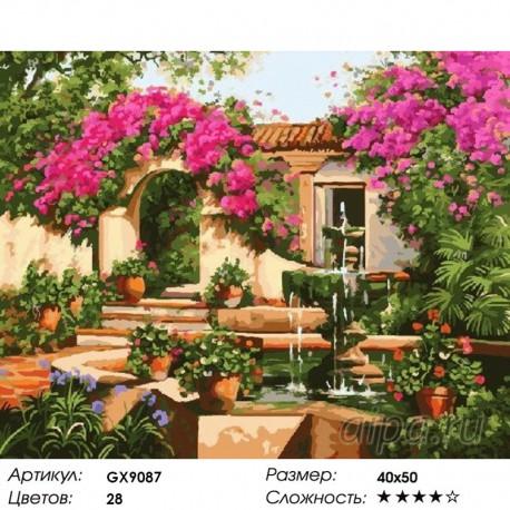 Количество цветов и сложность На цветущих улицах Раскраска картина по номерам на холсте
