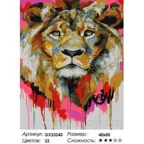 Количество цветов и сложность Красочный лев Раскраска картина по номерам на холсте