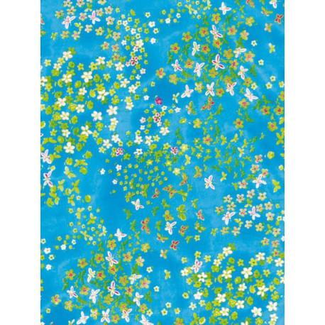 Цветочки в небе Бумага для декопатча Decopatch