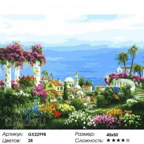 Количество цветов и сложность Средиземноморье Раскраска картина по номерам на холсте