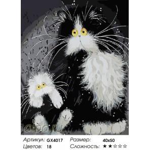 Количество цветов и сложность Черно-белые глазастики Раскраска картина по номерам на холсте