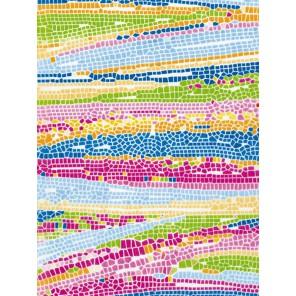 Мозаика розово-голубая Бумага для декопатча Decopatch