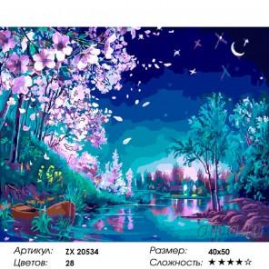 Волшебная ночь Раскраска картина по номерам на холсте