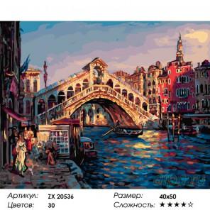 Мост Риальто Раскраска картина по номерам на холсте