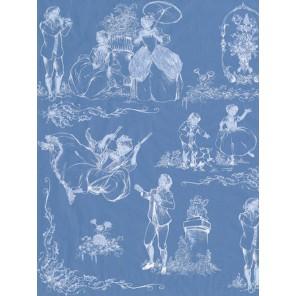 19 век на синем Бумага для декопатча Decopatch