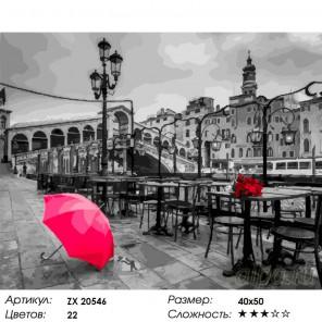 Город любви Раскраска картина по номерам на холсте