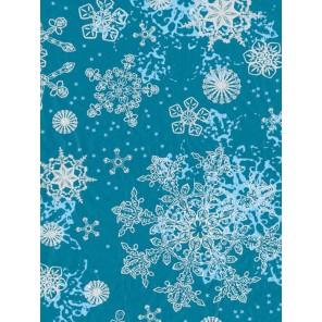 Снежинки на голубом Бумага для декопатча Decopatch