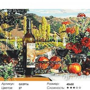 Количество цветов и сложность Терпкое вино Раскраска картина по номерам на холсте