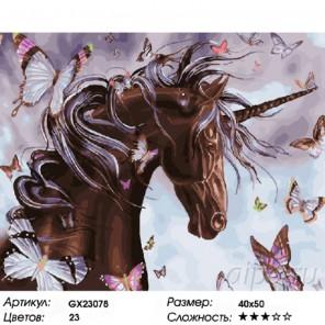 Количество цветов и сложность Шоколадный единорог Раскраска картина по номерам на холсте
