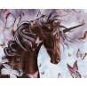 Шоколадный единорог Раскраска картина по номерам на холсте