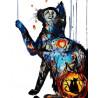 Загадочный котик Раскраска картина по номерам на холсте