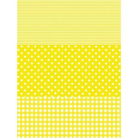 Полоска/ Горох/ Клетка желтый Бумага для декопатча Decopatch