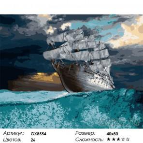 В шторм Раскраска картина по номерам на холсте