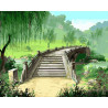 Старинный мостик Раскраска картина по номерам на холсте