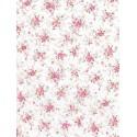 Мелкие розовые цветочки на белом Бумага для декопатча Decopatch