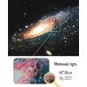 Фрагмент крупно Млечный путь Алмазная вышивка (мозаика) Гранни