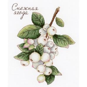 Дары природы. Снежная ягода Набор для вышивания МП Студия