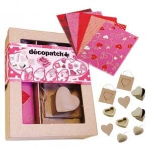 10 сердечек Набор для декопатча Decopatch