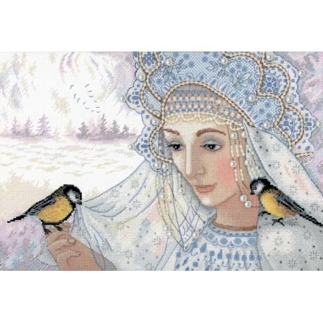 Зимняя царица Набор для вышивания МП Студия