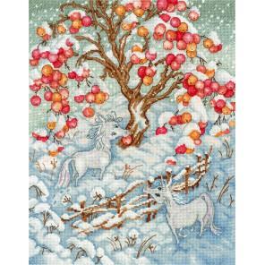 Сказка зимних единорогов Набор для вышивания МП Студия