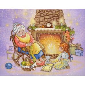 Рождественский вечер диз.канва+мулине Набор для вышивания МП Студия