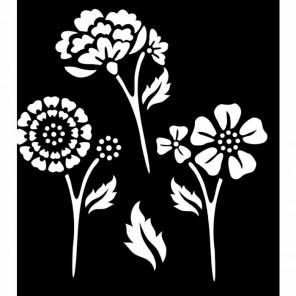 Цветы летние Трафарет 30589 FolkArt Plaid