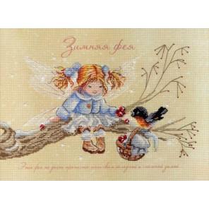 Зимняя фея диз.канва+мулине Набор для вышивания МП Студия
