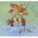 На рыбалке диз.канва+мулине Набор для вышивания МП Студия