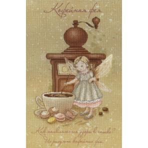 Кофейная фея диз.канва+мулине Набор для вышивания МП Студия
