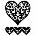 Сердце роскошное Трафарет 30592 FolkArt Plaid