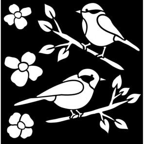Птицы Трафарет 30607 FolkArt Plaid