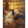 Спокойной ночи Раскраска картина по номерам на холсте