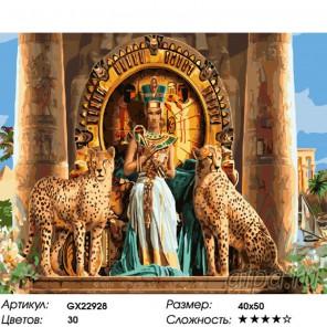 Количество цветов и сложность Таинственный Египет Раскраска картина по номерам на холсте
