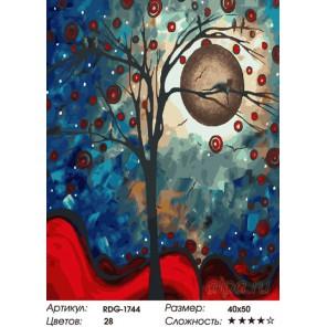 Лунное дерево Раскраска картина по номерам на холсте
