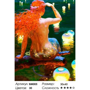 Сложность и количество цветов В ожидании принца Раскраска - открытка по номерам с декором Color Kit BM005