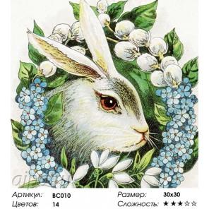 Весна пришла Раскраска - открытка по номерам с декором Color Kit