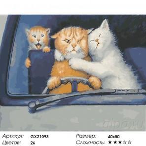 За рулем Раскраска картина по номерам на холсте