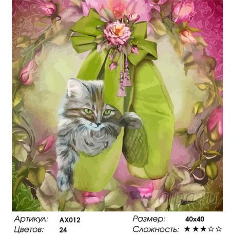 Сложность и количество цветов Балетные мечты Раскраска картина по номерам Color Kit AX012