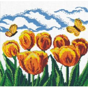 Жёлтые тюльпаны Набор для вышивания бисером МП Студия