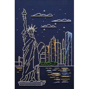 Нью-Йорк Набор для вышивания бисером МП Студия