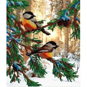 Птички в лесу Набор для вышивания бисером МП Студия