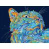 Лунный кот Раскраска по номерам на холсте Color Kit CE204