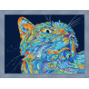 Лунный кот Раскраска по номерам на холсте Color Kit CE204  в рамке 30х40см Вилен N187
