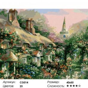 Сложность и количество цветов Летний дом Раскраска по номерам на холсте Color Kit CG014